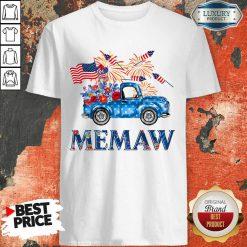 Pickup Truck 4th Of July American Flag Memaw Shirt